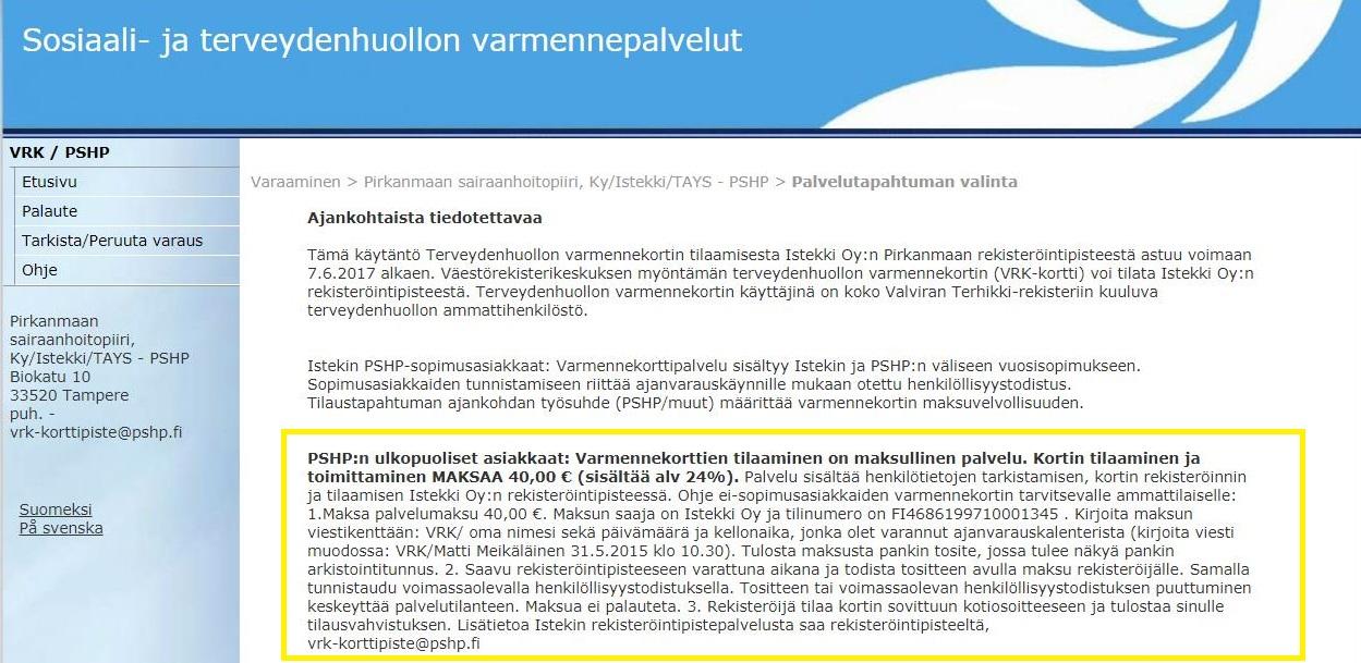 Varmennekortti Tampere